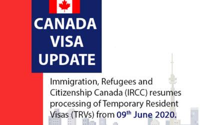Canada Visa Update